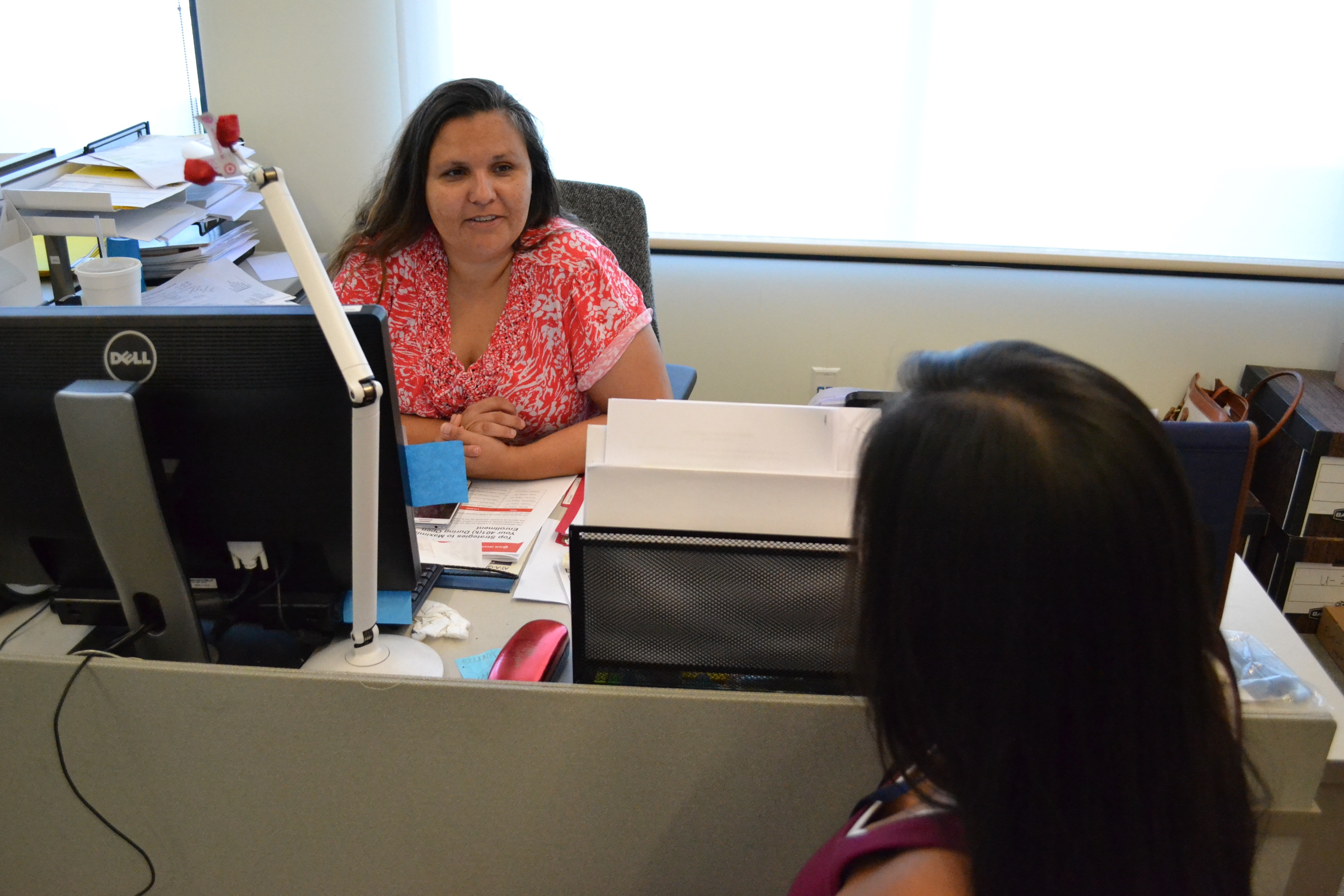 Pawhuska, Okla. (July 22, 2016) Cherokee Cheshewalla, Financial Assistance Case Manager, provides valuable constituent service by assisting applicants to apply for and receive the help they need.