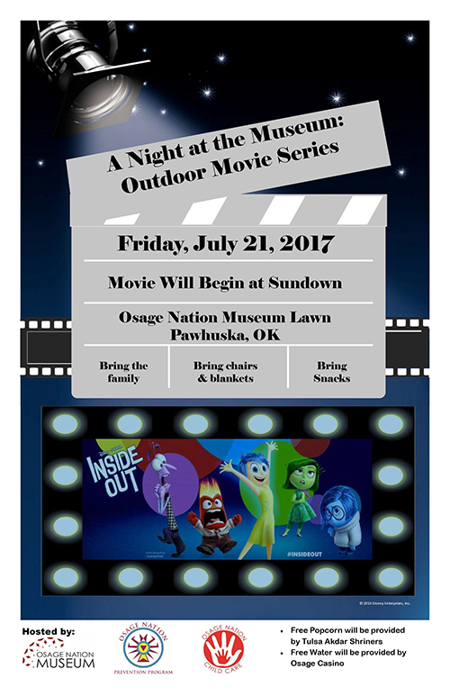 Movie Night Flyer:  Inside Out